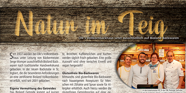 """Zeitungsbericht """"Natur im Teig"""""""